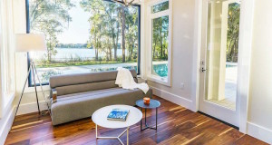 sunroom in Sawyer Sound custom home